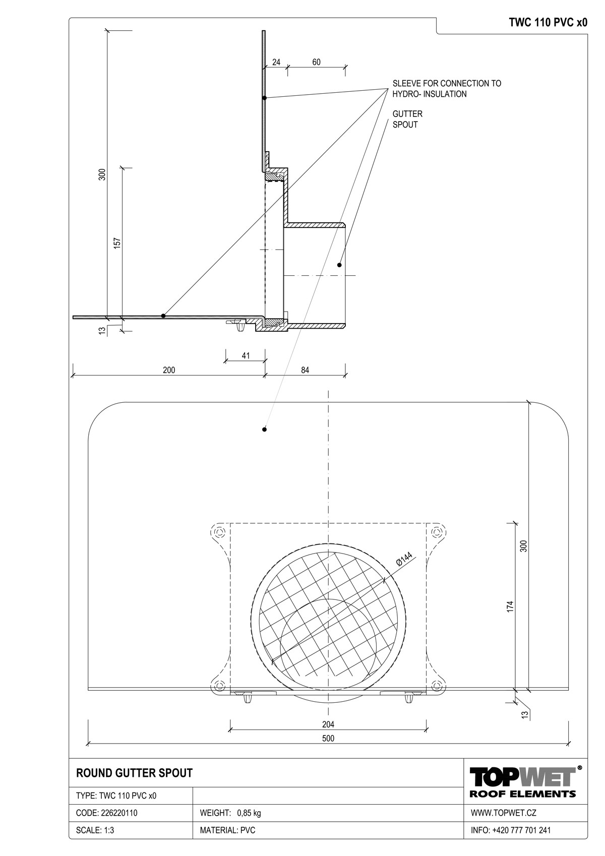 1200x1698 to et gutter spouts for connection to plastic and stainless steel