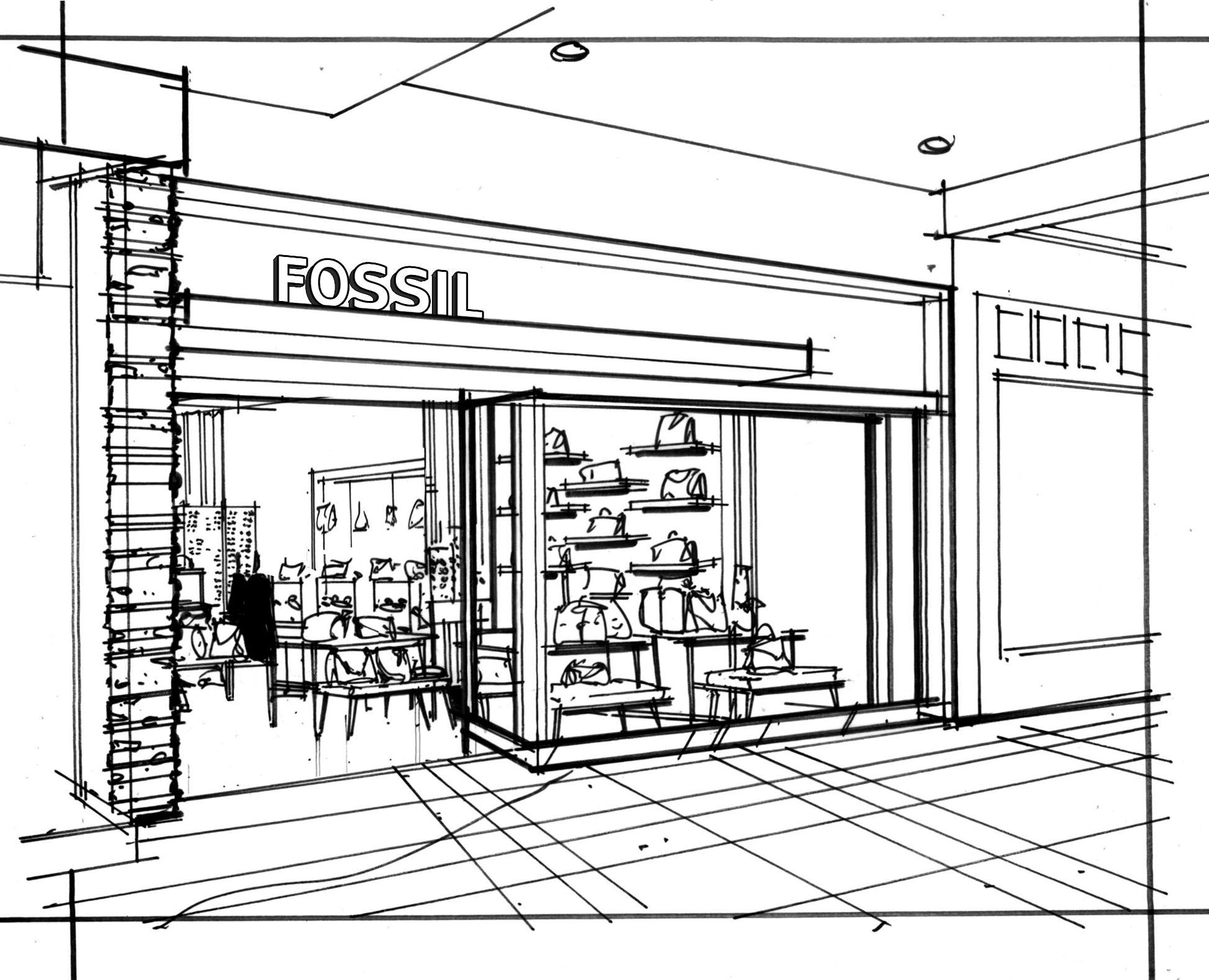Storefront Drawing At Getdrawings