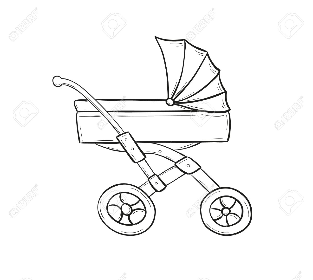 Stroller Drawing At Getdrawings