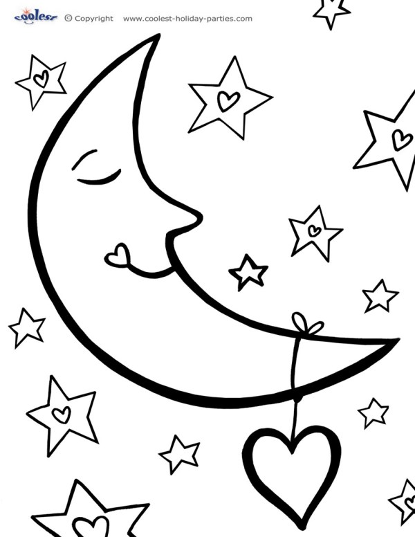 Sun Moon And Stars Drawing at GetDrawingscom Free for