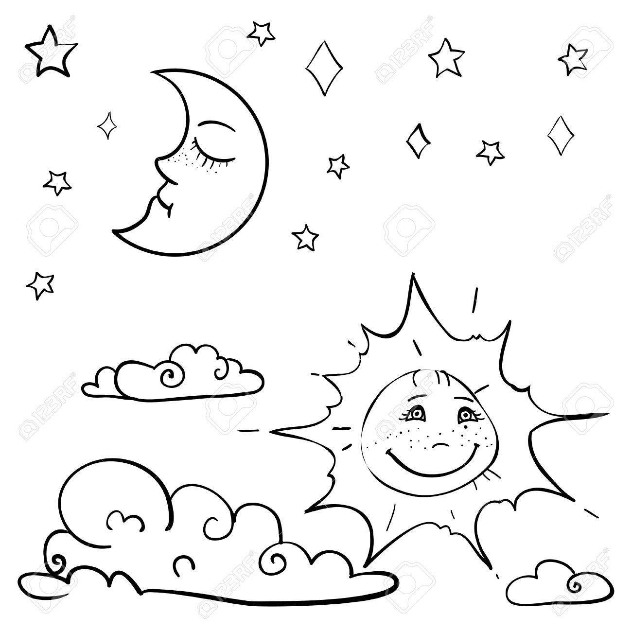 Sun Moon And Stars Drawing At Getdrawings
