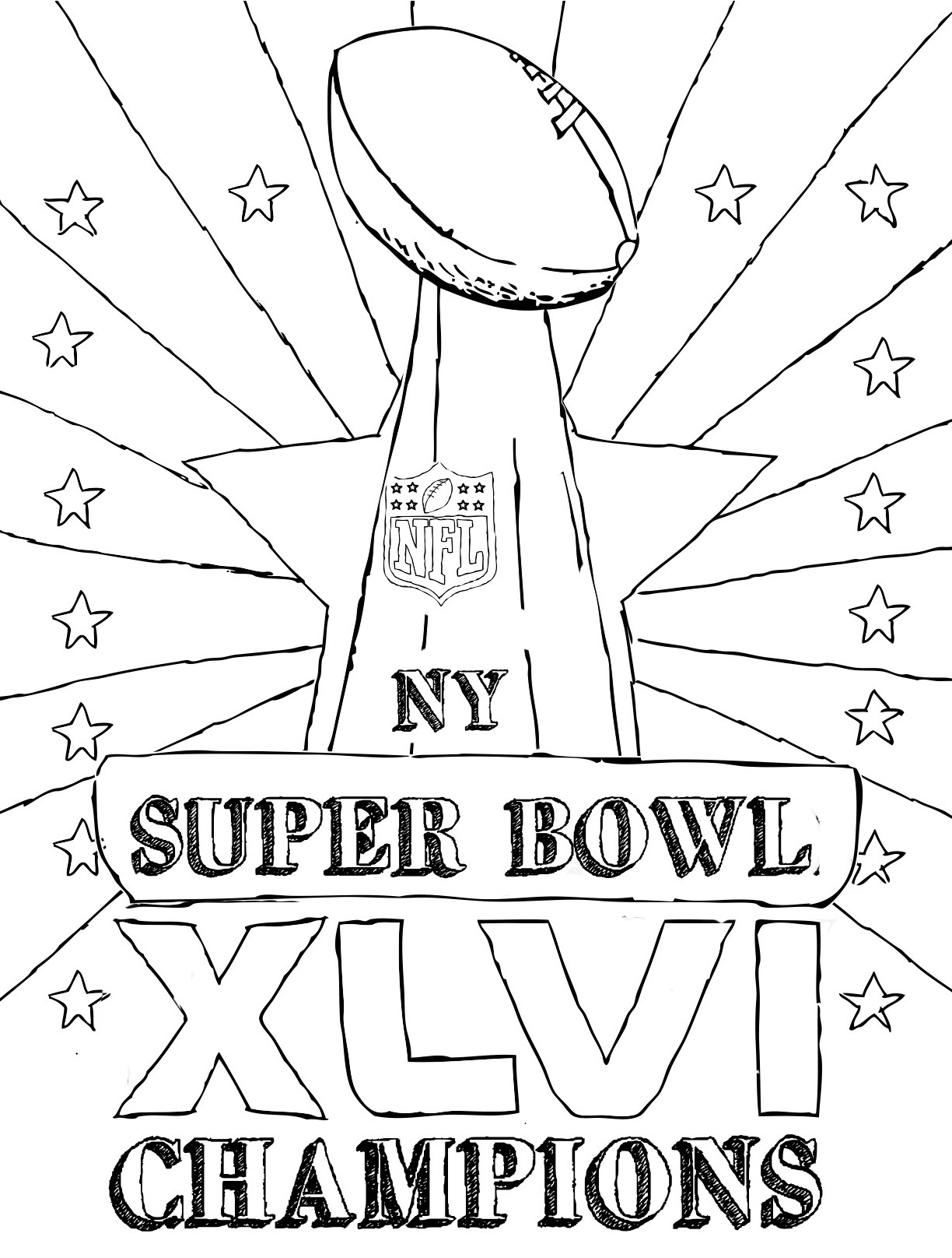 Super Bowl Drawing At Getdrawings
