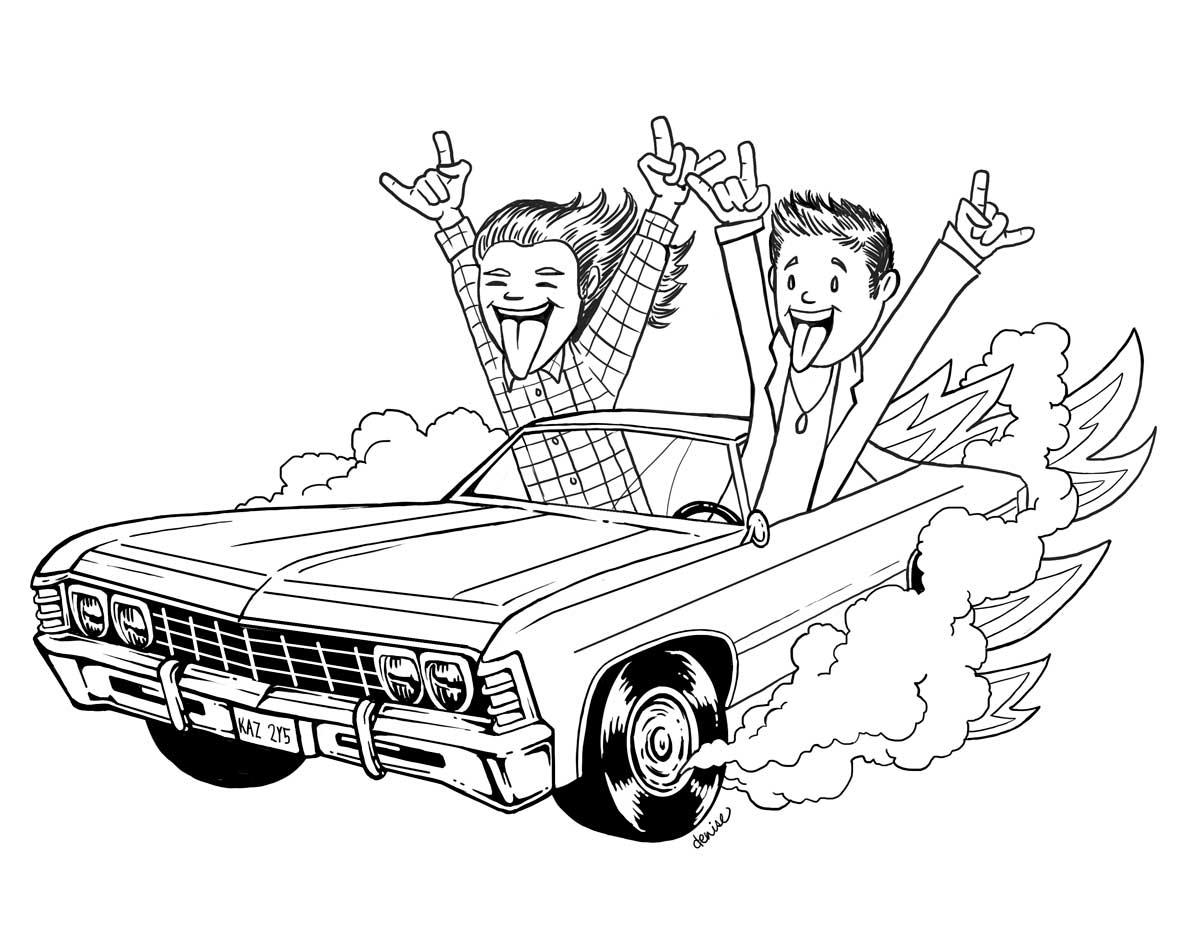 Supernatural Impala Drawing At Getdrawings