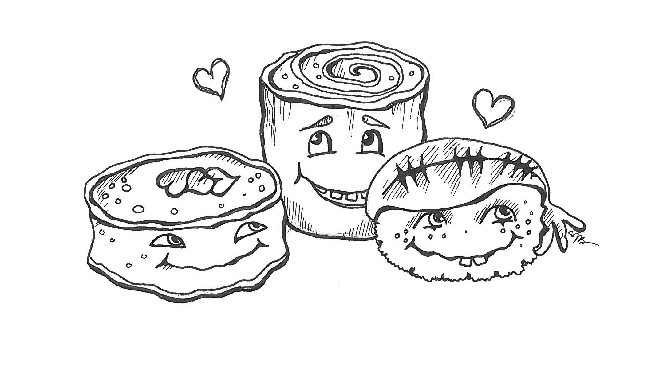 Sushi Drawing At Getdrawings