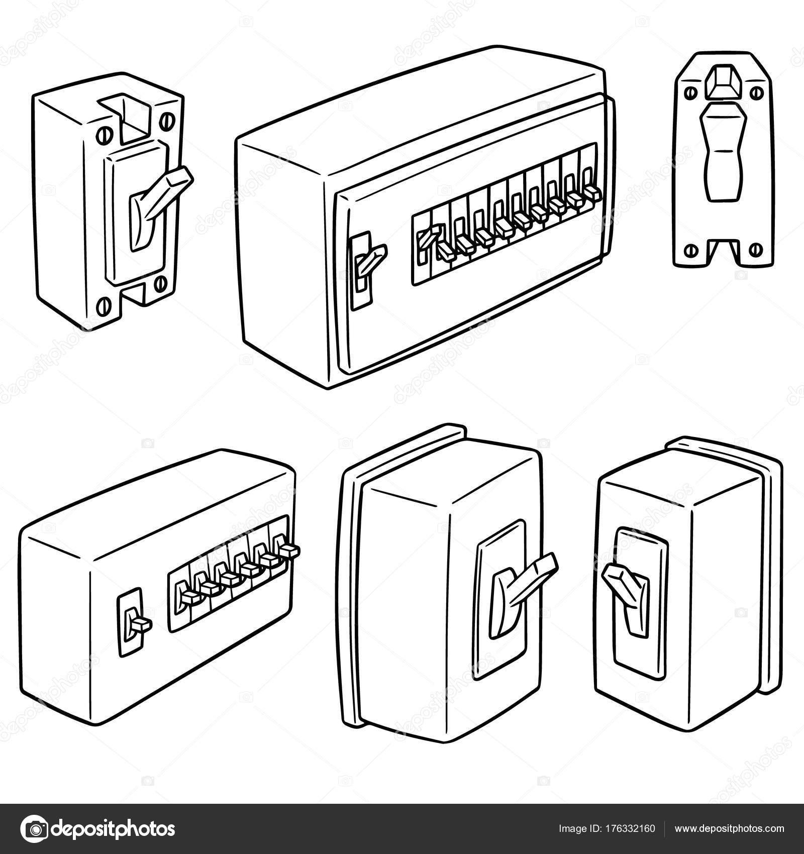 1600x1700 vector set breaker switch stock vector © ourlifelooklikeballoon