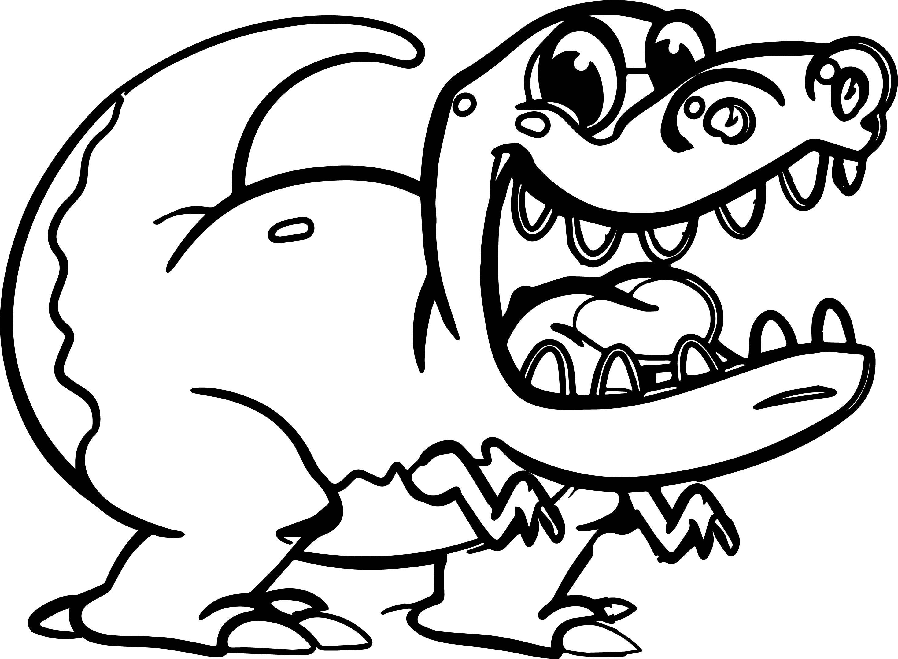 T Rex Cartoon Drawing At Getdrawings