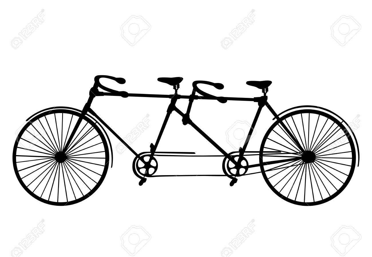 Tandem Bicycle Drawing At Getdrawings