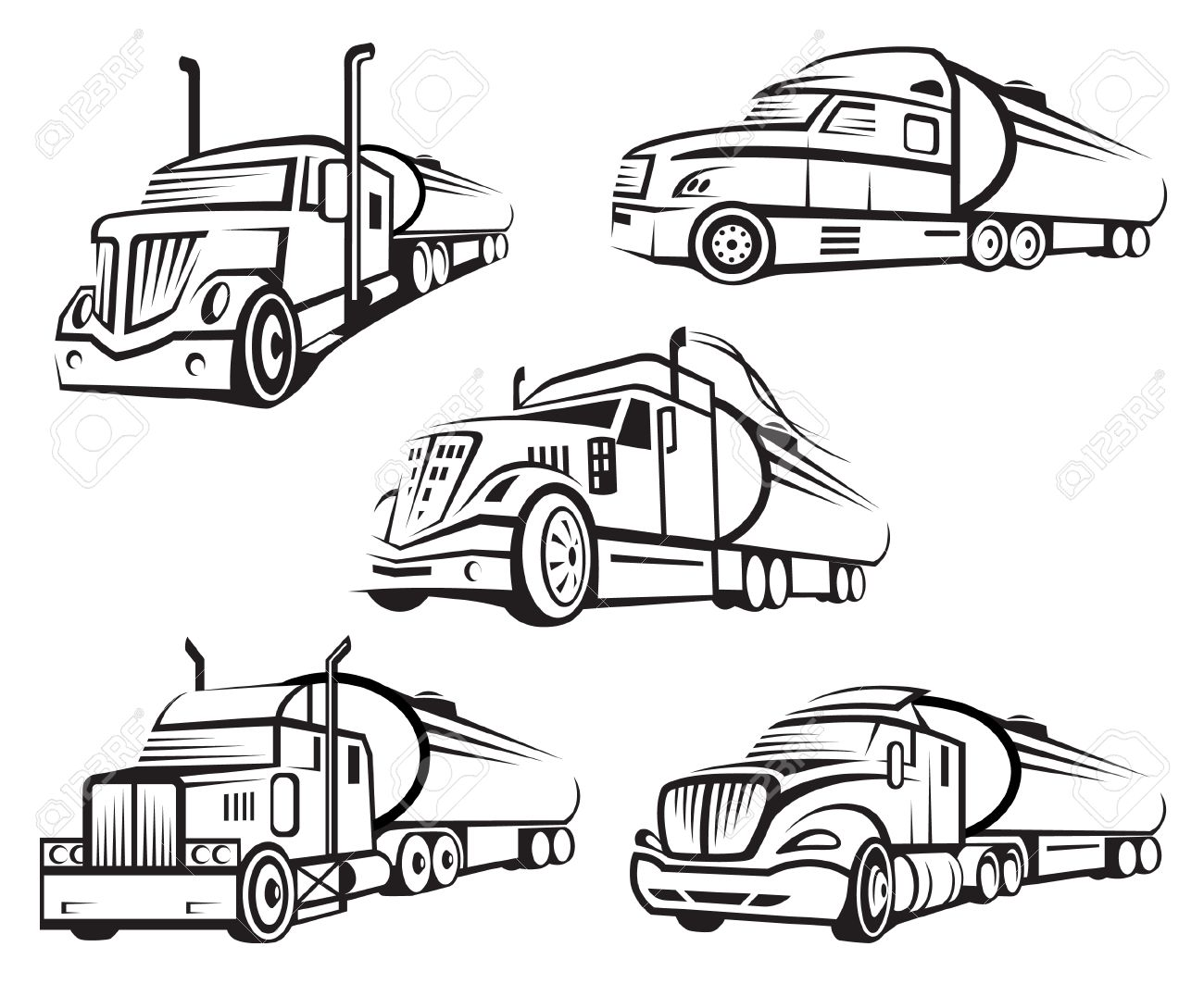 Tanker Truck Drawing At Getdrawings
