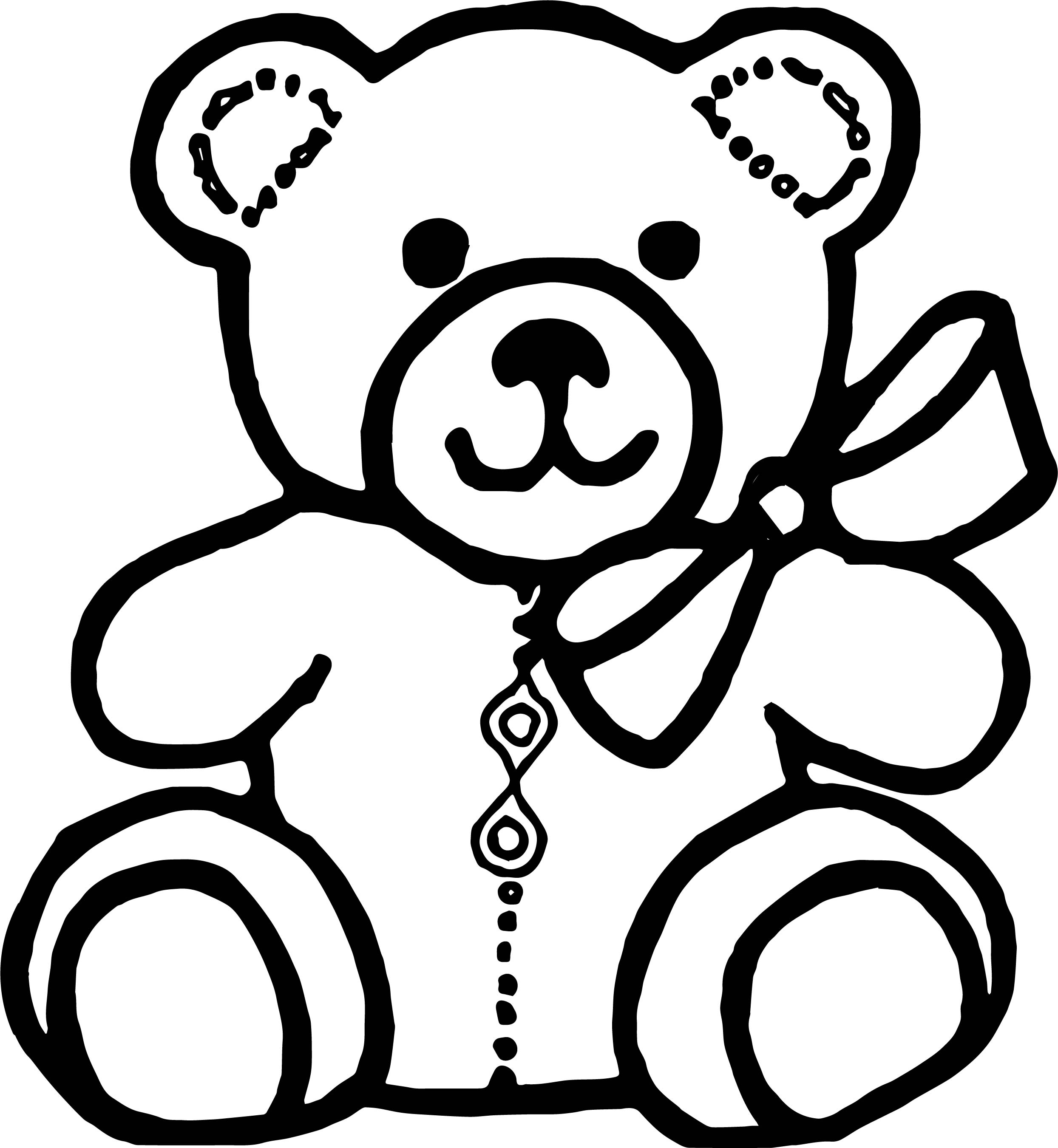 Teddy Bear Outline Drawing At Getdrawings