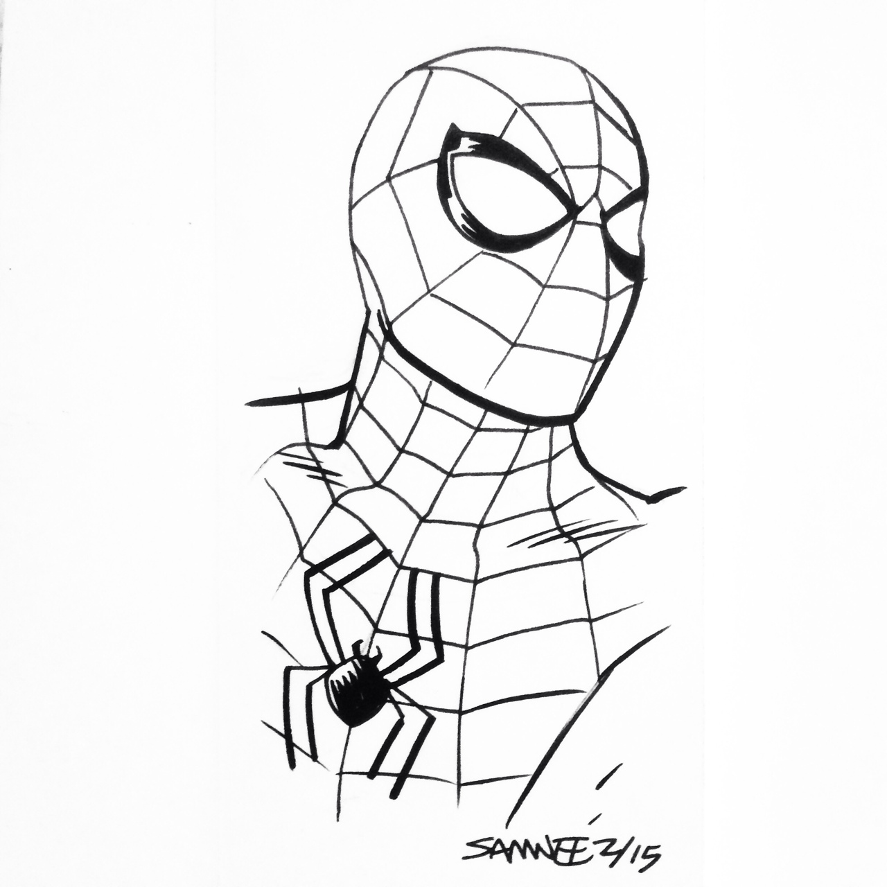 The Amazing Spider Man Drawing At Getdrawings