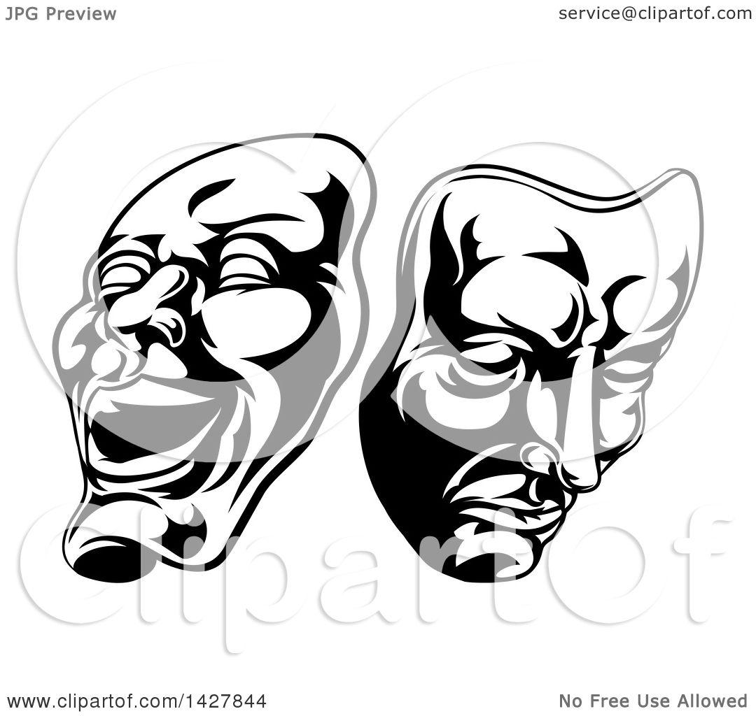 Theatre Masks Drawing At Getdrawings