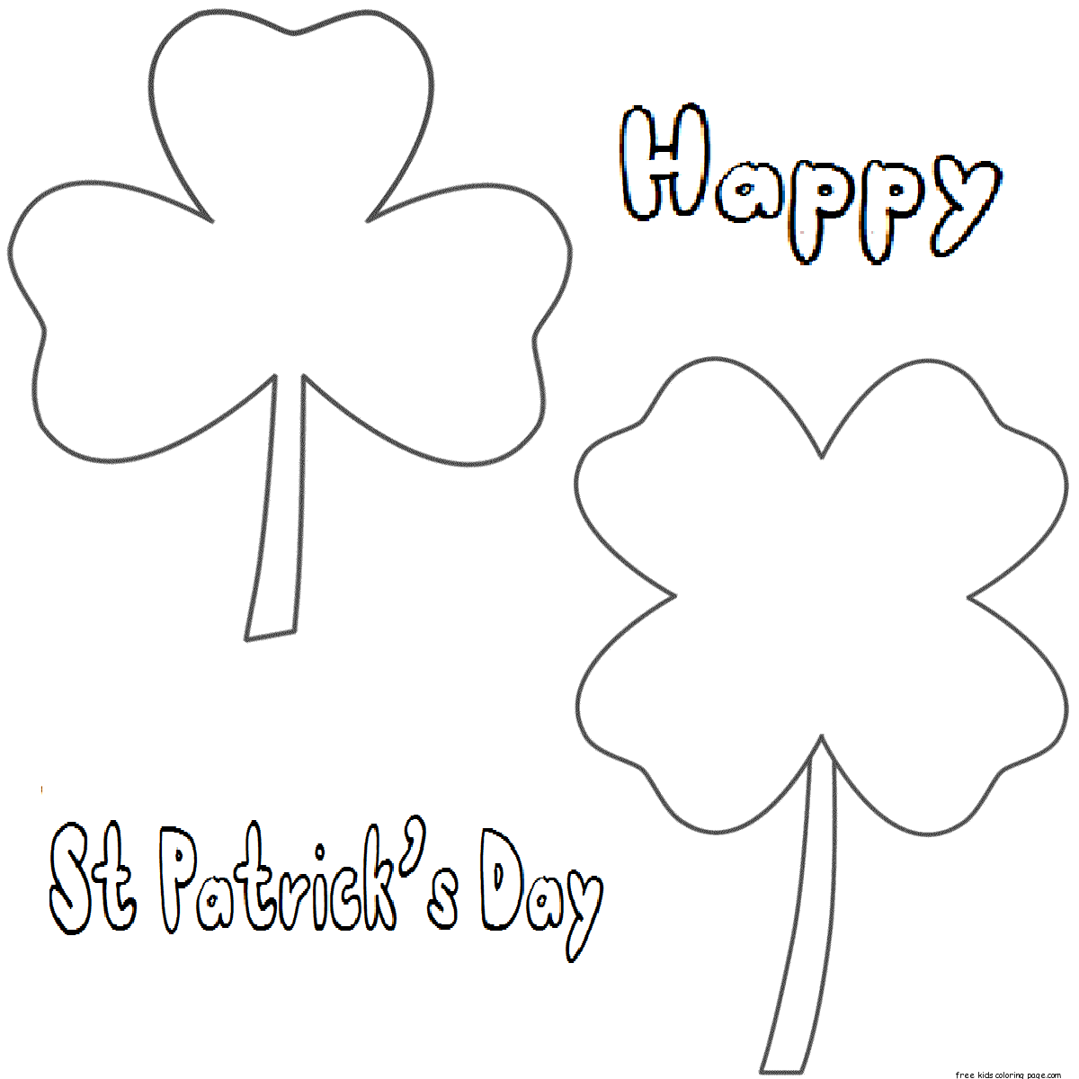 Three Leaf Clover Drawing At Getdrawings