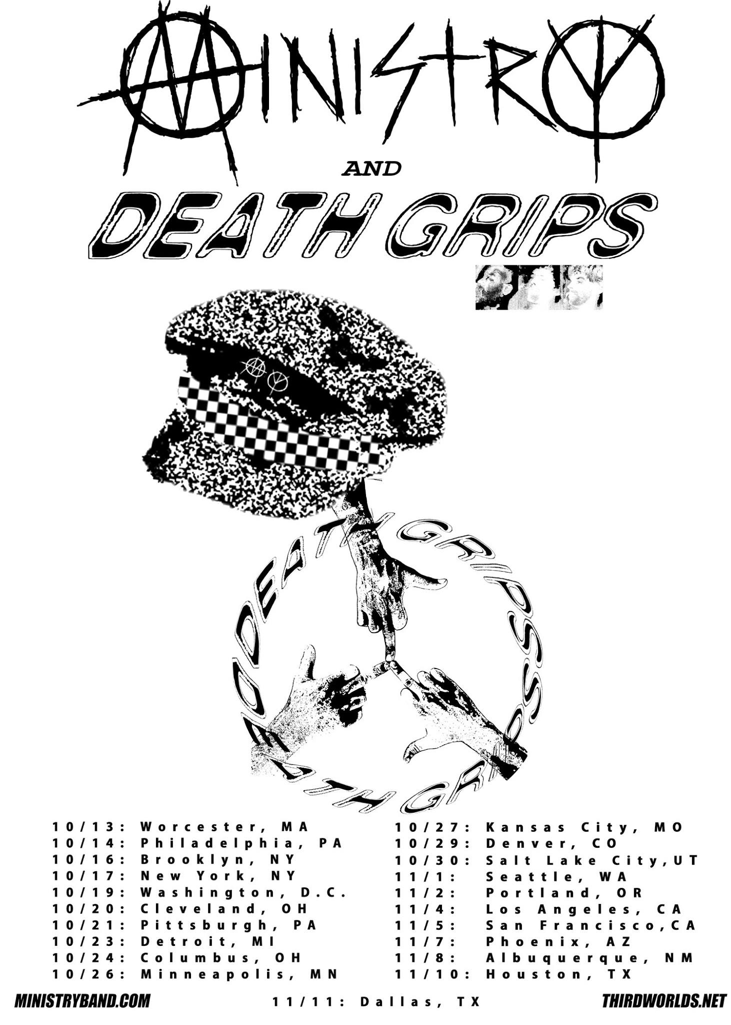 1462x2048 ministry are going out on tour with death grips this fall tickets