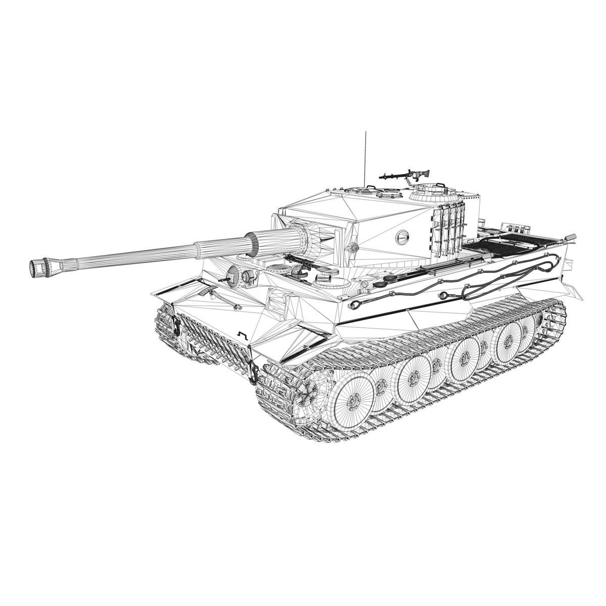 Tiger Tank Drawing At Getdrawings