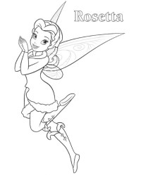 halloween tinkerbell coloring pages