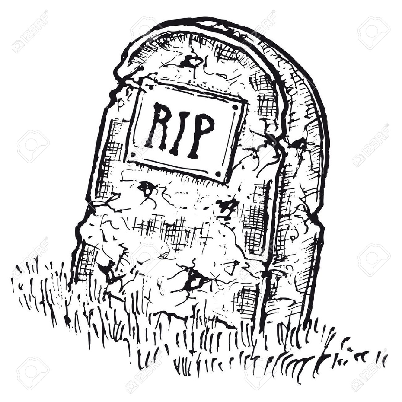 Tombstone Drawing At Getdrawings