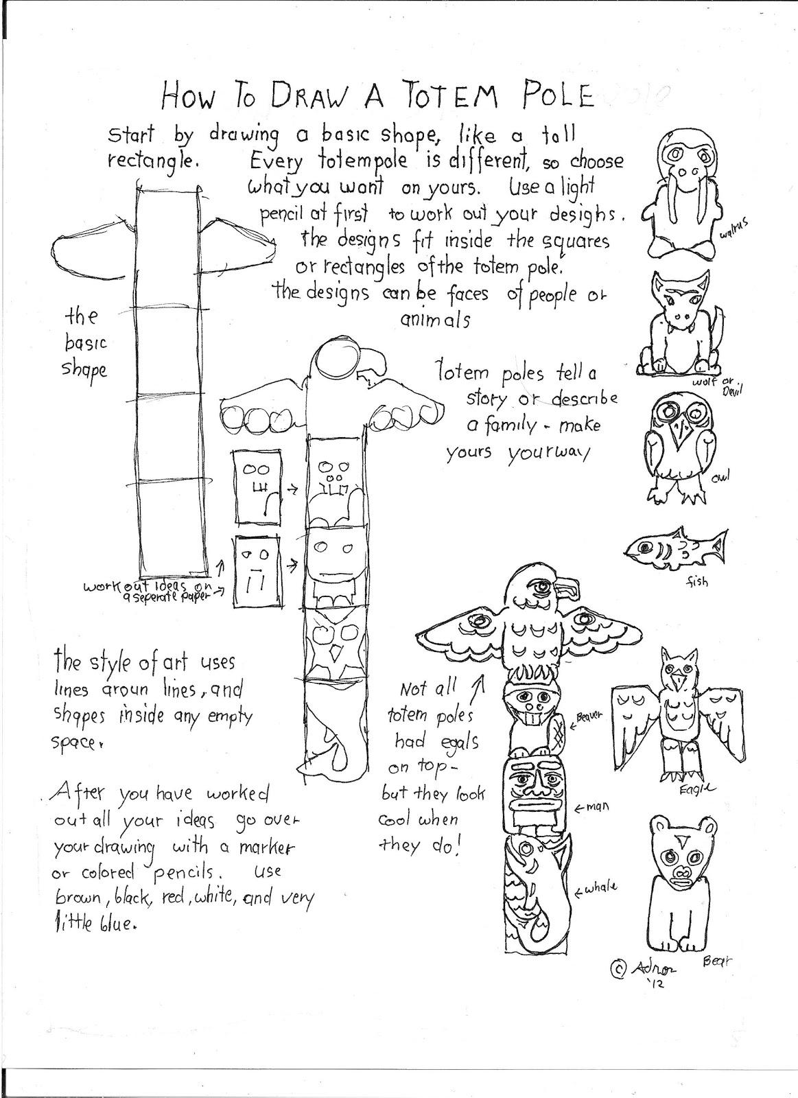 Totem Pole Drawing At Getdrawings