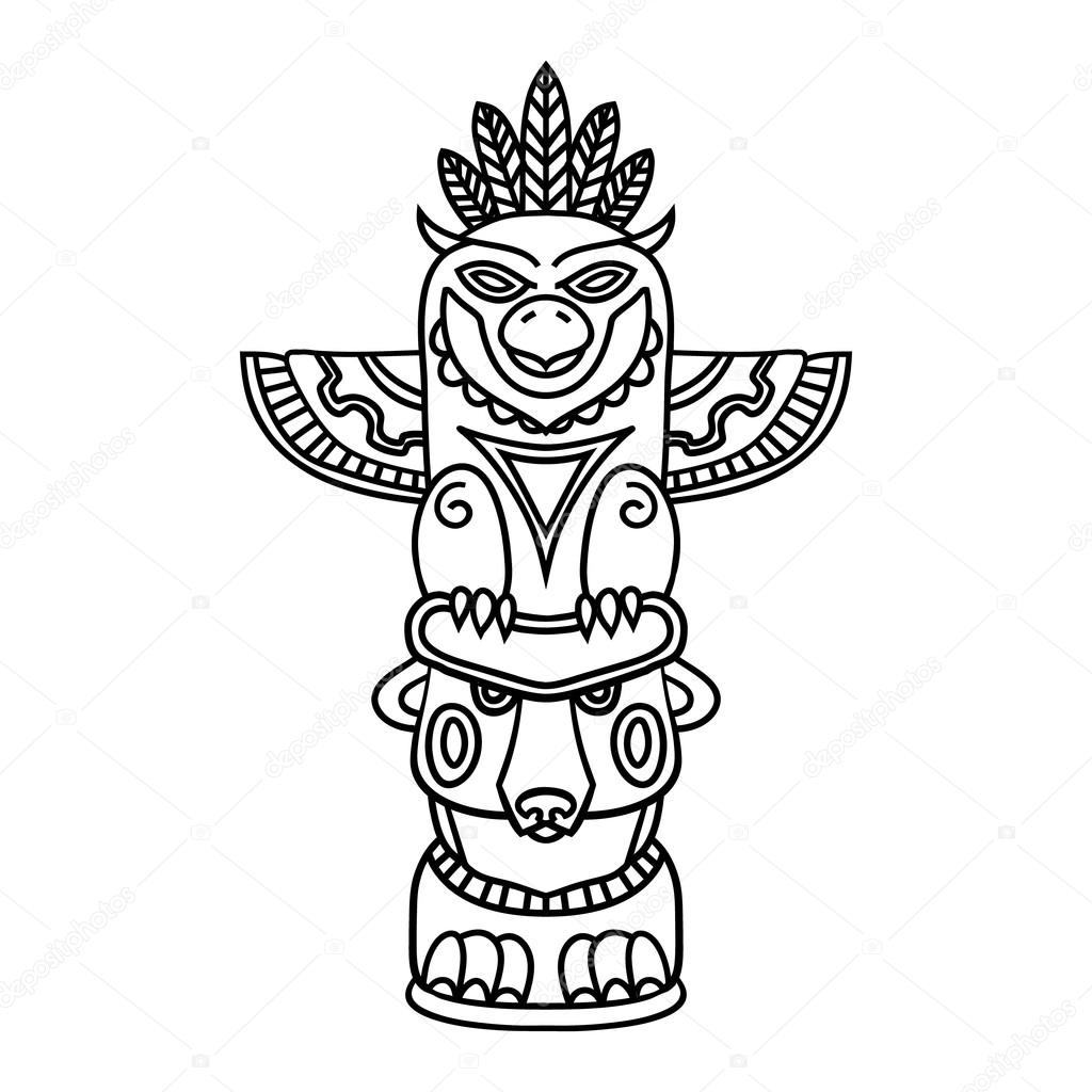 Totem Pole Drawing At Getdrawings