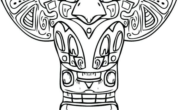 totem pole coloring pages # 75