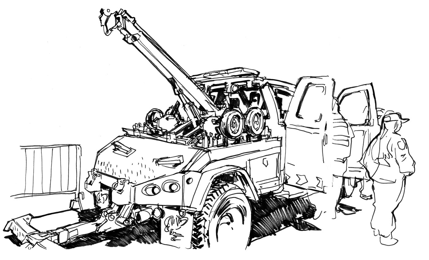 Tow Truck Drawing At Getdrawings