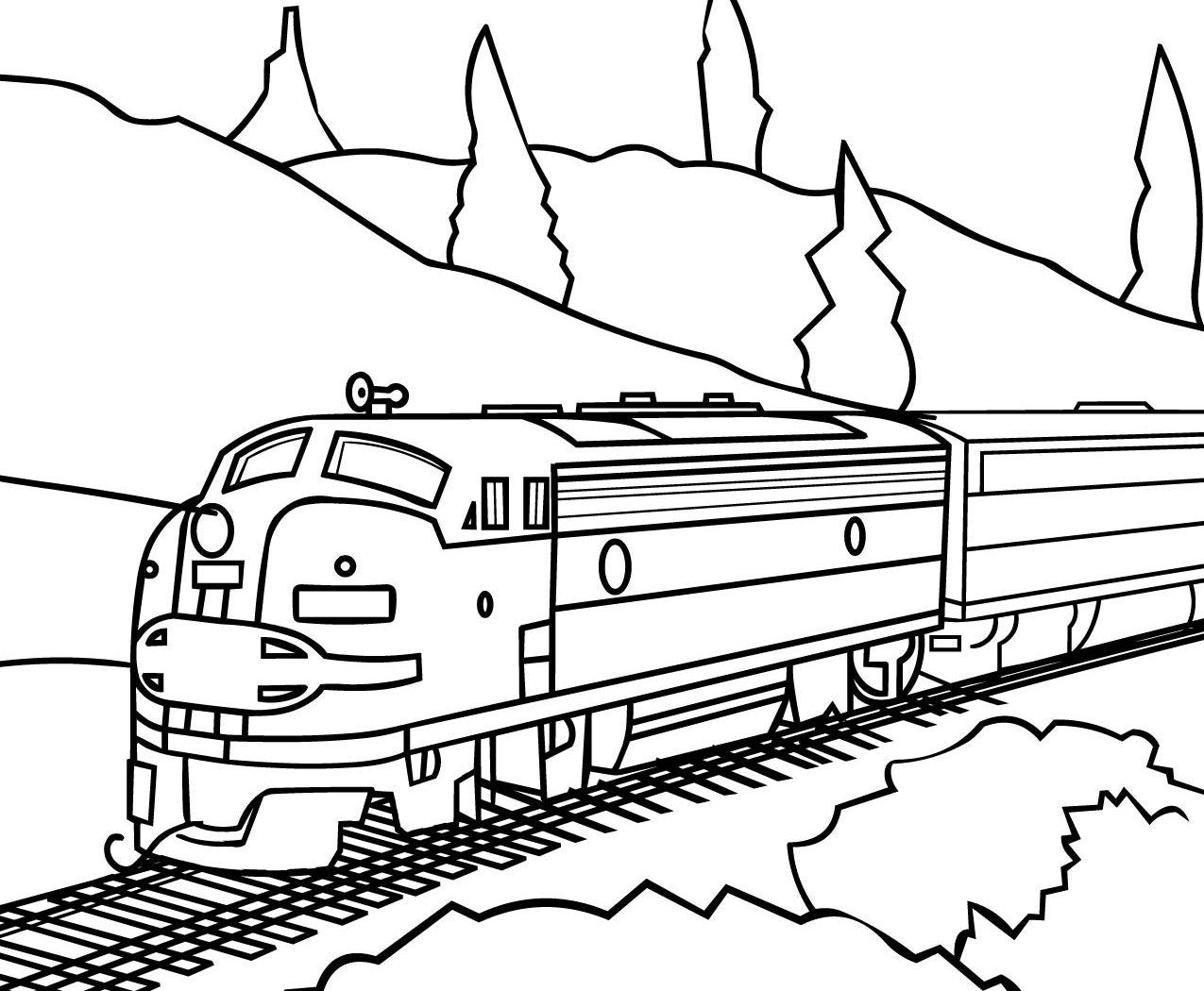 Train Line Drawing At Getdrawings