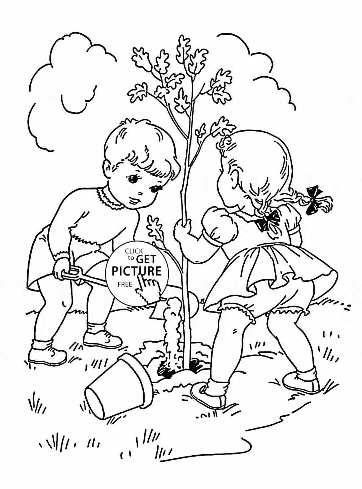 Tree Planting Drawing At Getdrawings