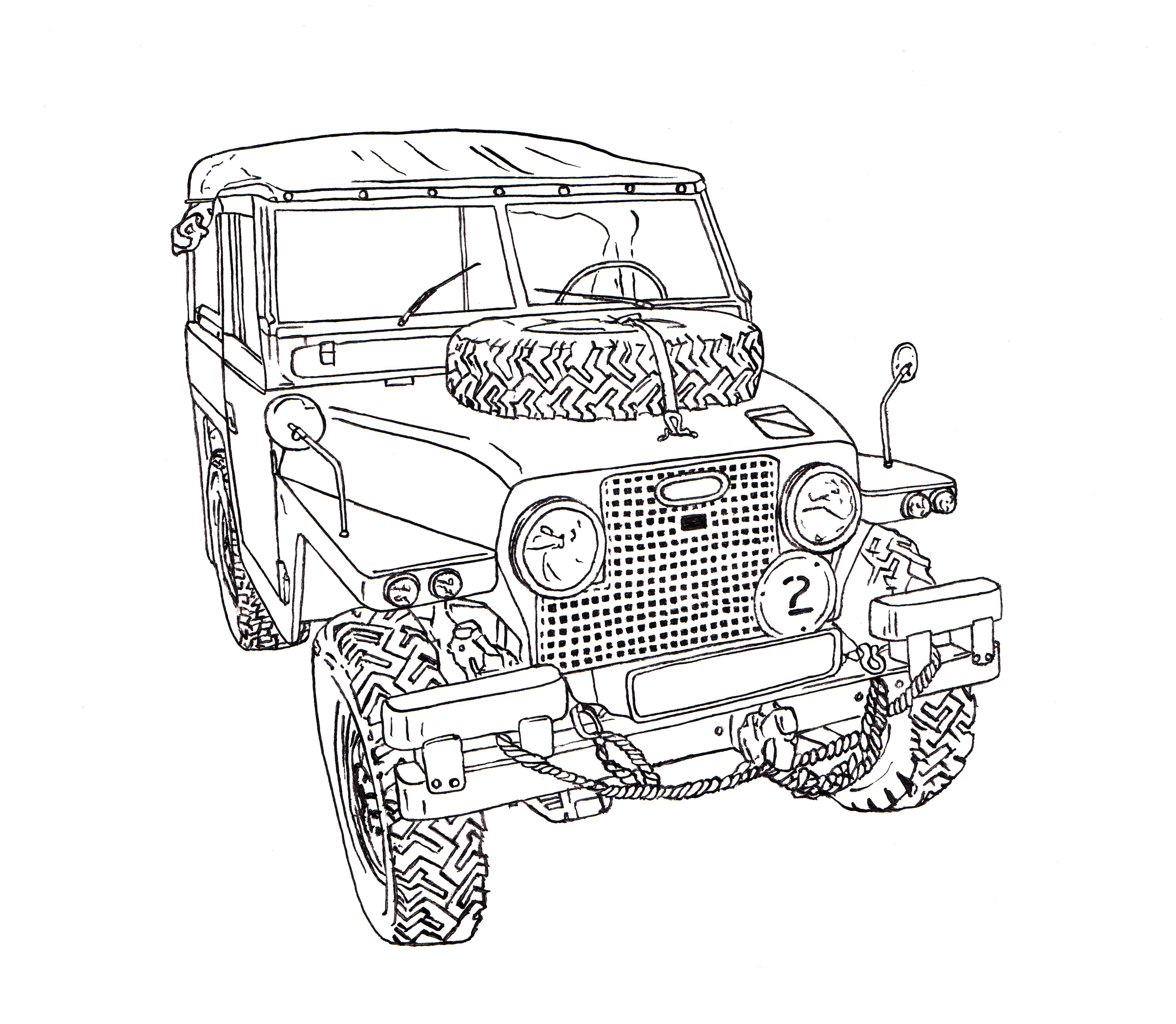 Trophy Truck Drawing At Getdrawings
