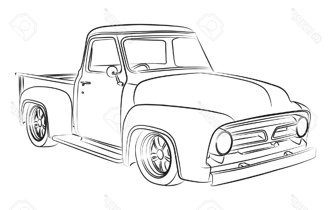 Truck Sketch Drawing At Getdrawings