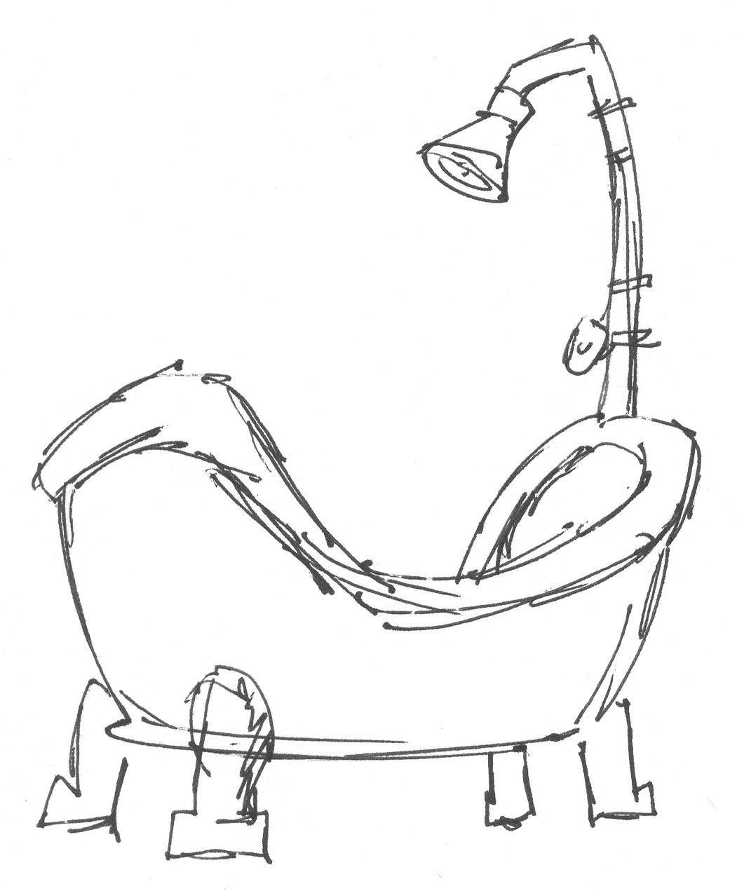 Tub Drawing At Getdrawings
