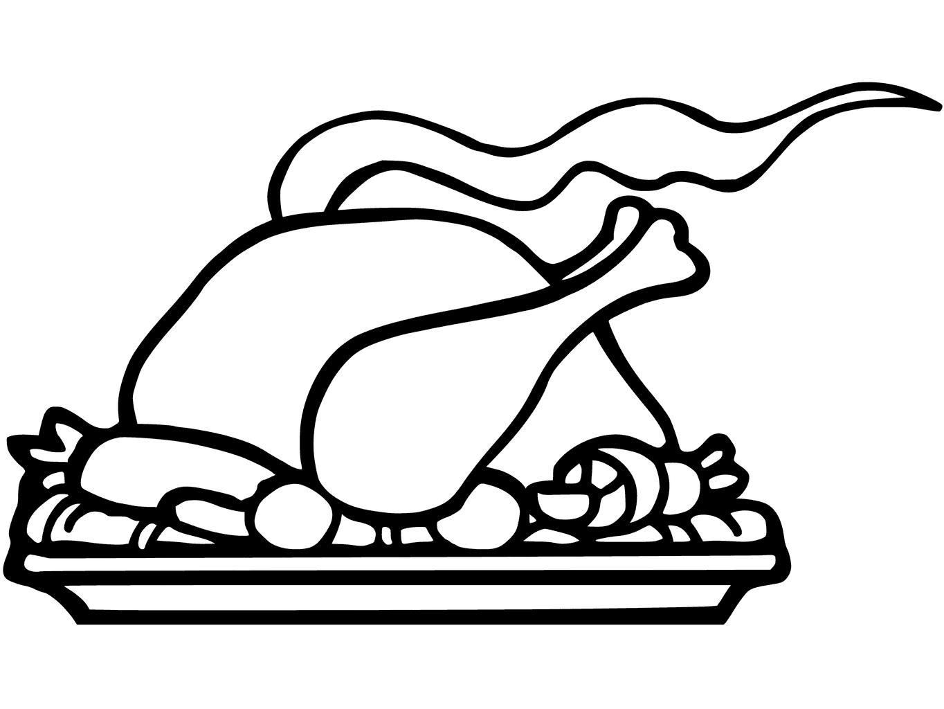 Turkey Dinner Drawing At Getdrawings
