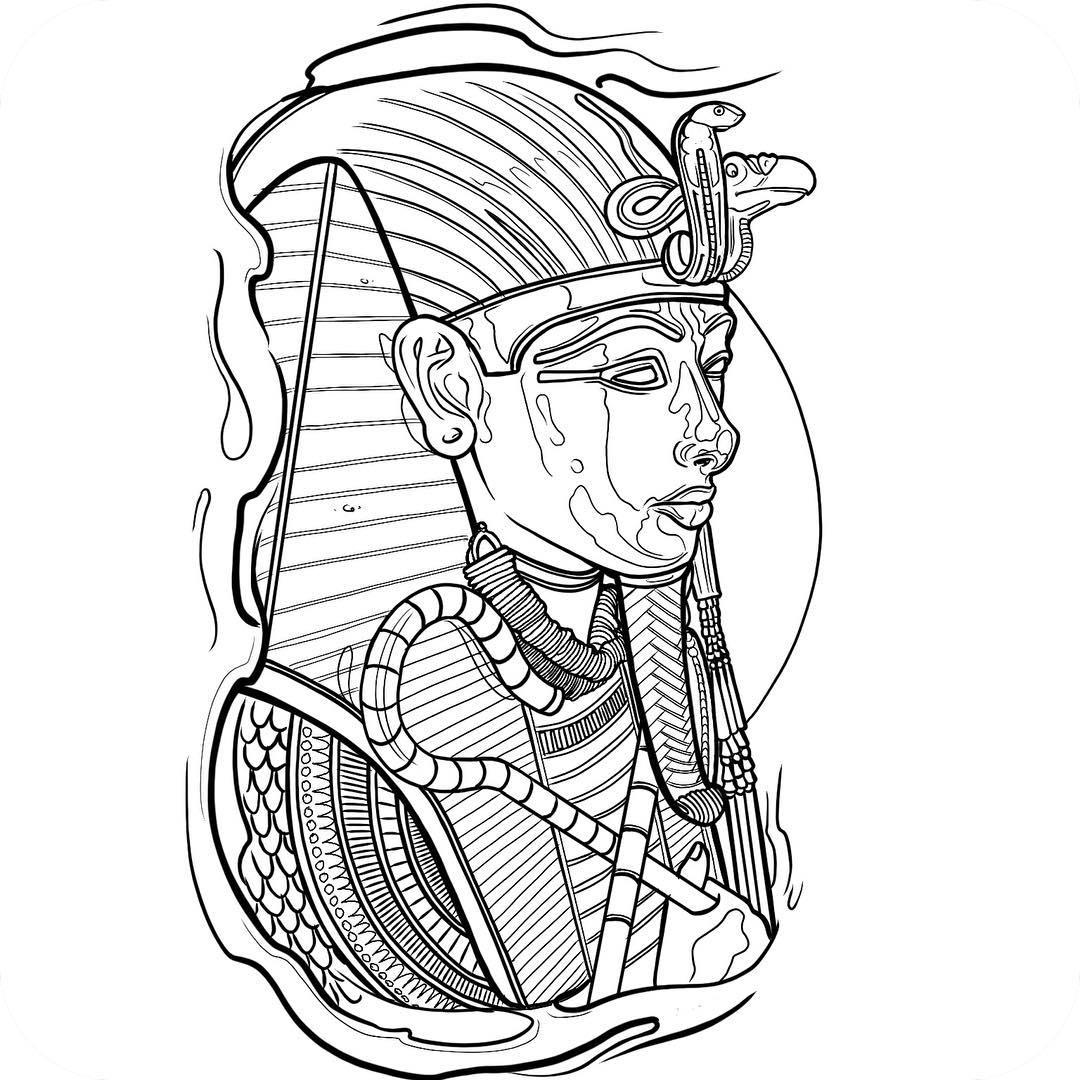 Tutankhamun Drawing At Getdrawings