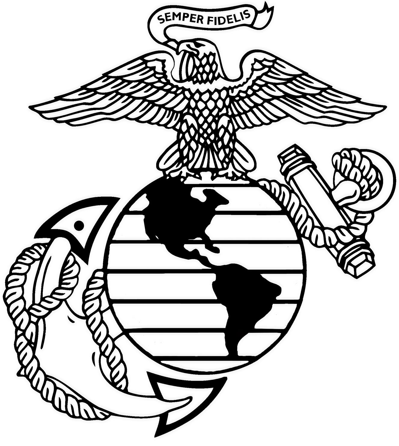 Usmc Emblem Drawing At Getdrawings