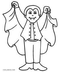 halloween vampire drawing