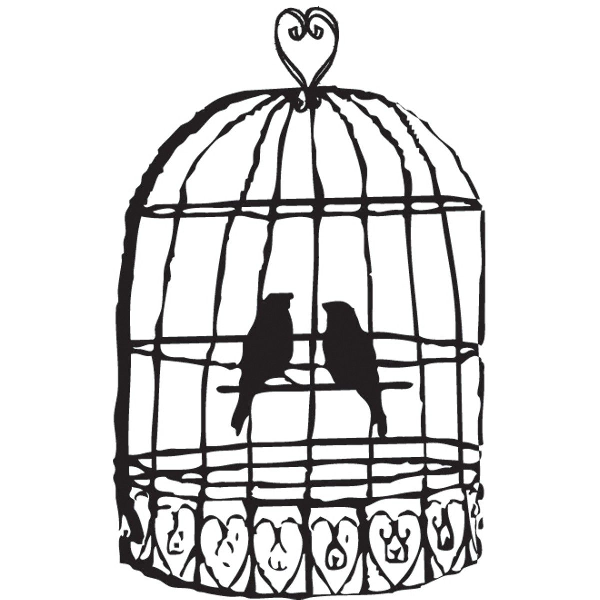 Vintage Birdcage Drawing At Getdrawings