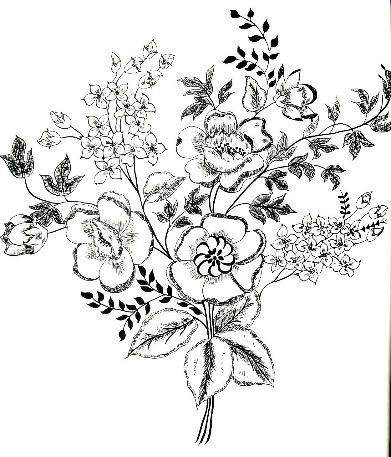 Vintage Flowers Drawing At Getdrawings