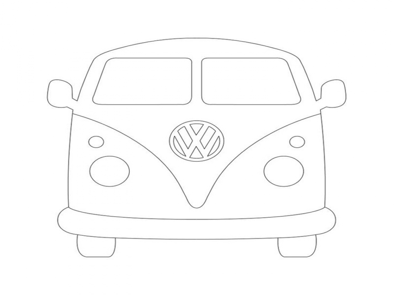 1280x960 vw van trippy coloring pages bus page