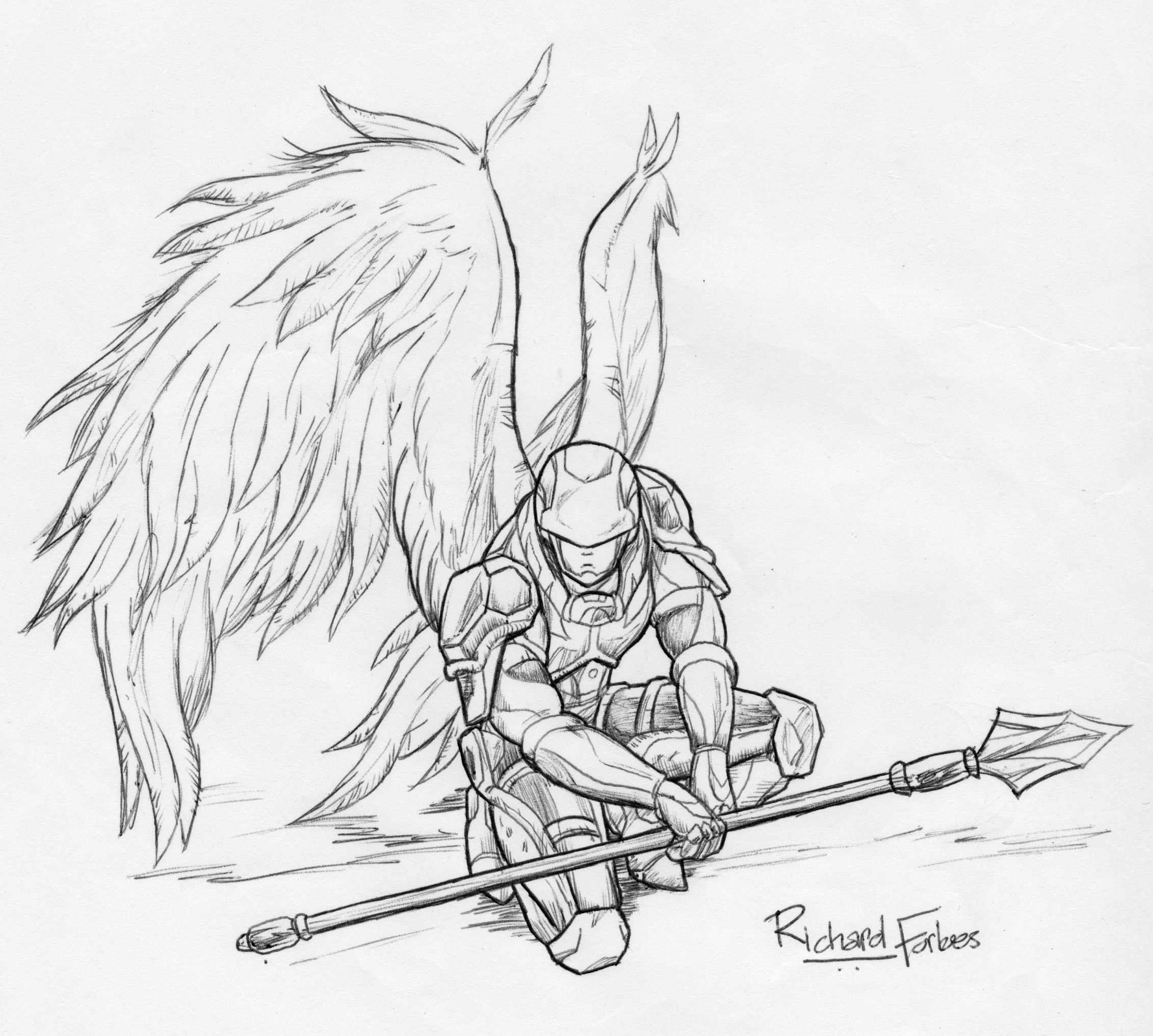 Wolf Angel Wings Drawings