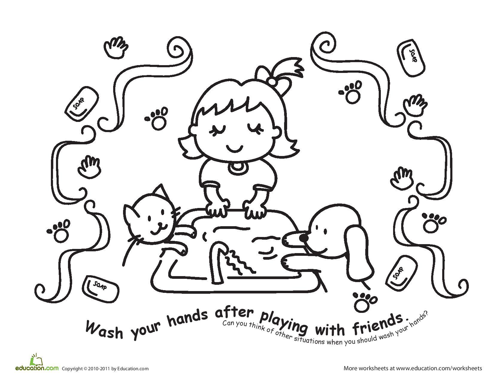 Wash Hands Drawing At Getdrawings