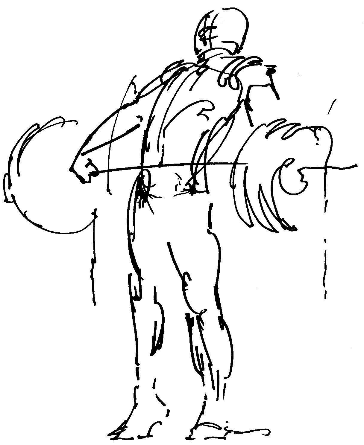 Weight Lifting Drawing At Getdrawings