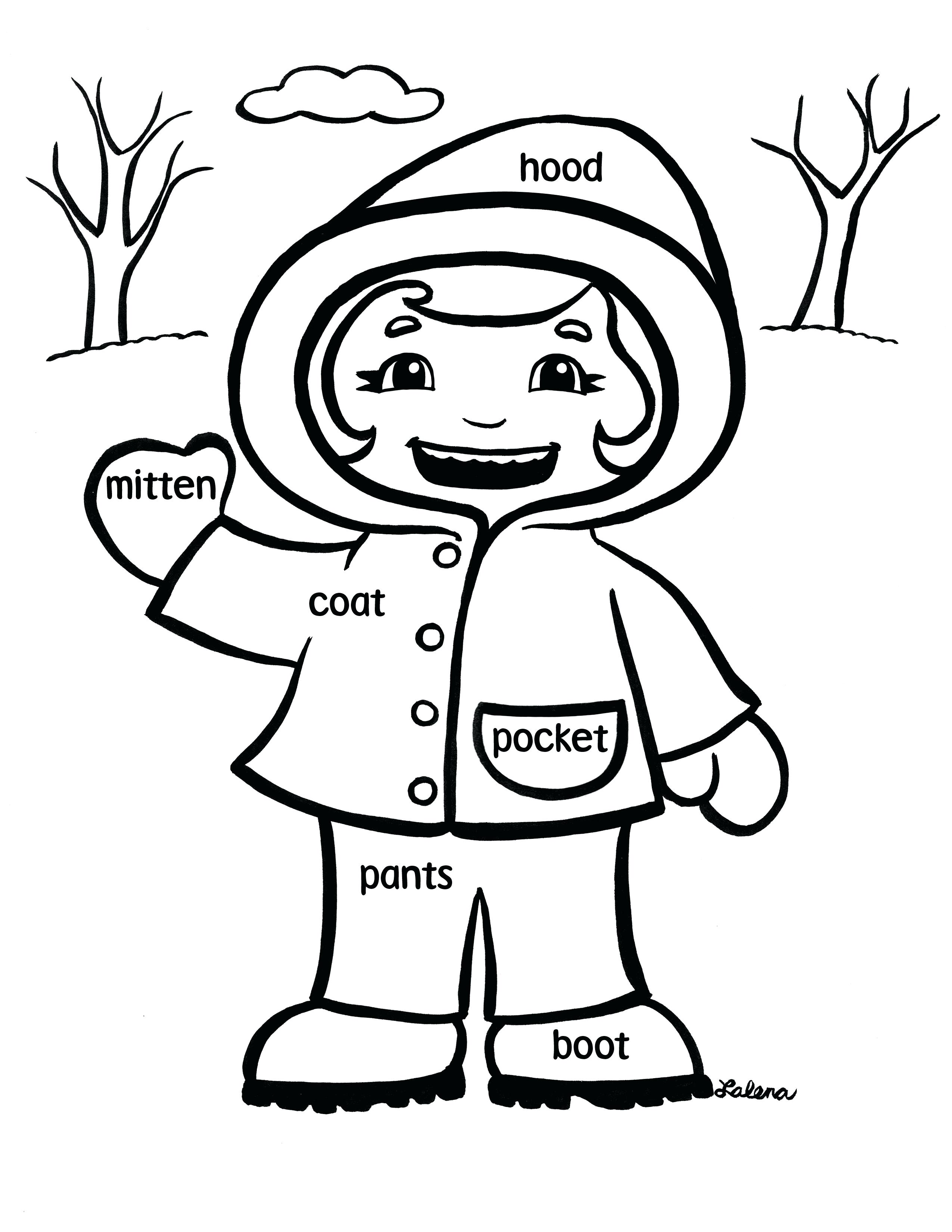 Winter Coat Coloring Page