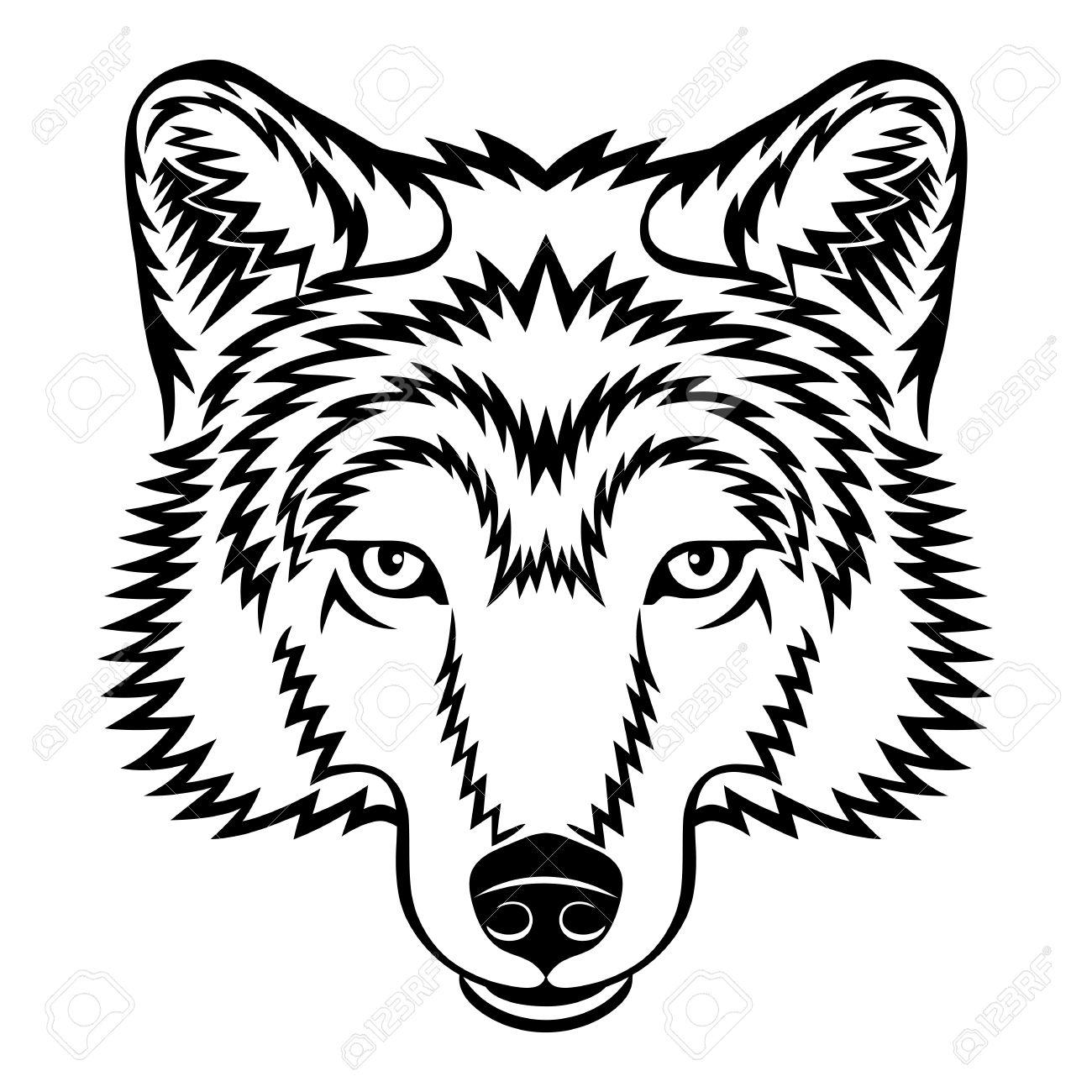 Wolf Head Line Drawing At Getdrawings