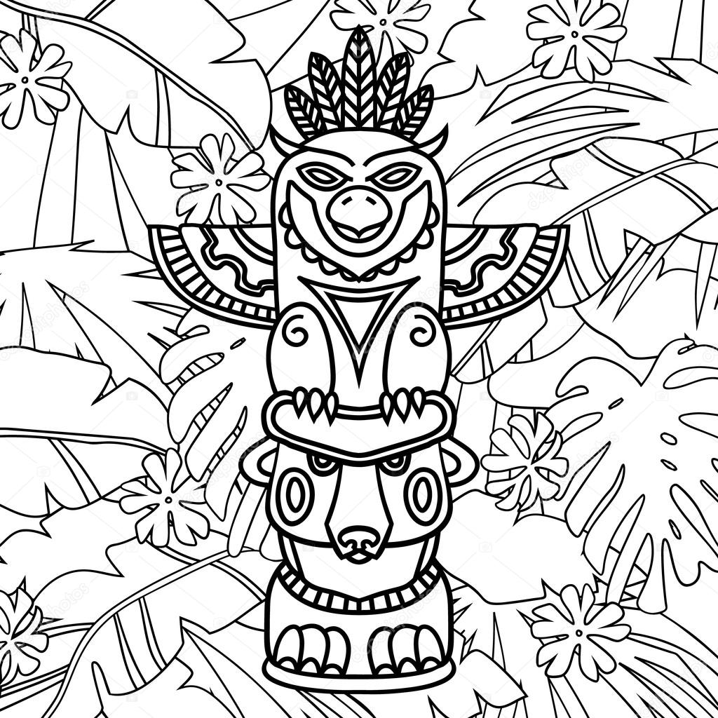 Wolf Totem Pole Drawing At Getdrawings