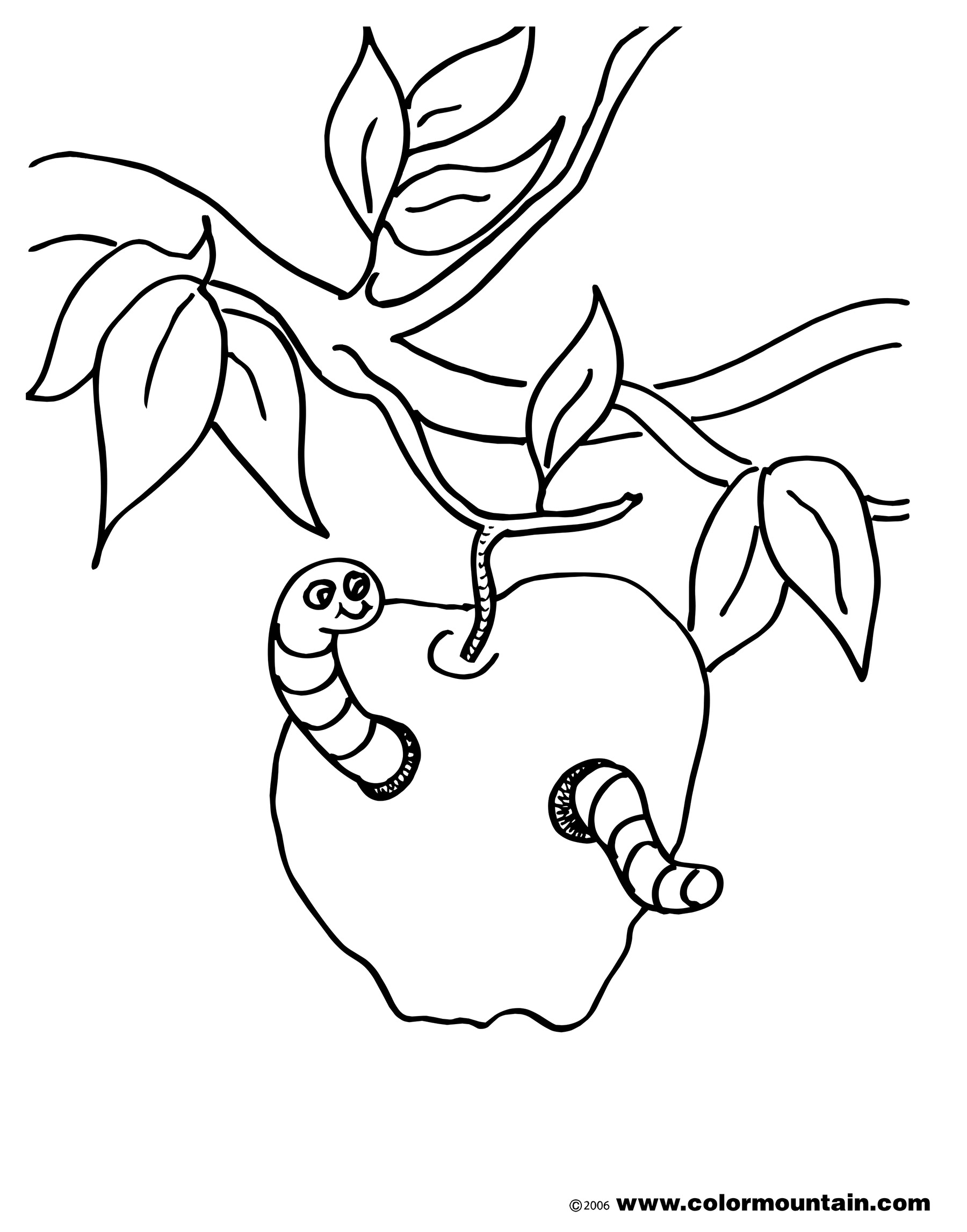 Clip Art Inch Worm Coloring Page Penty Photo