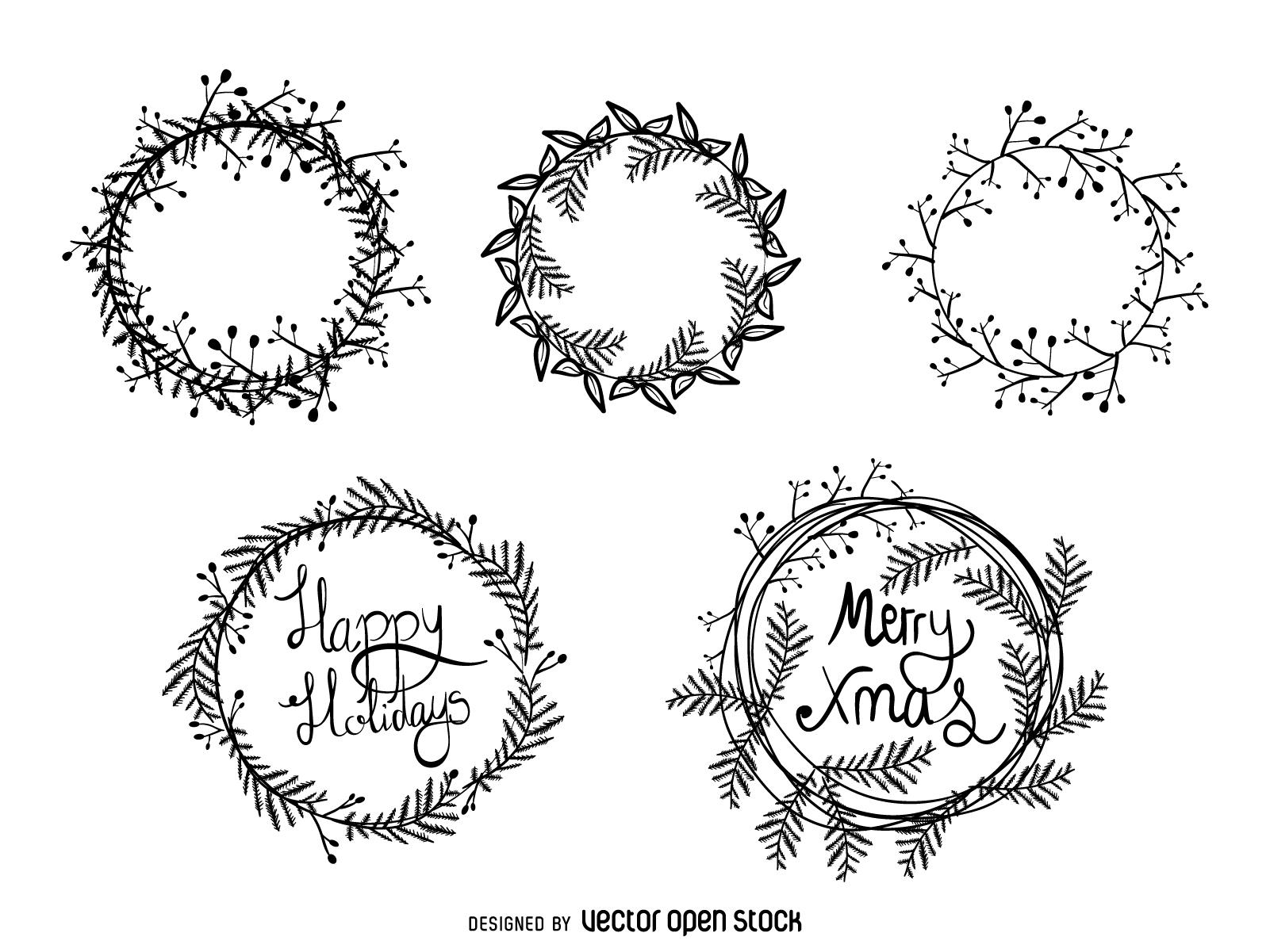 Wreath Drawing At Getdrawings