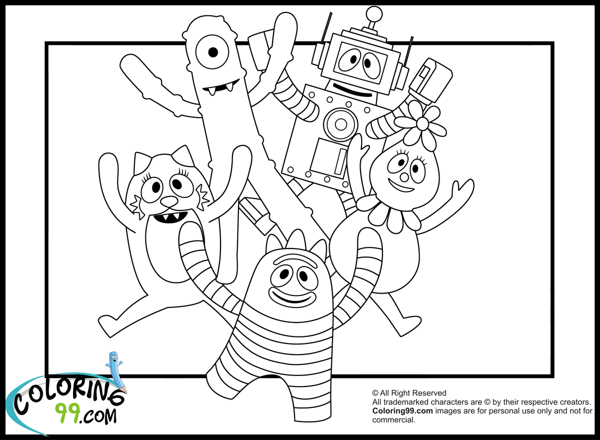 Yo Gabba Gabba Drawing At Getdrawings