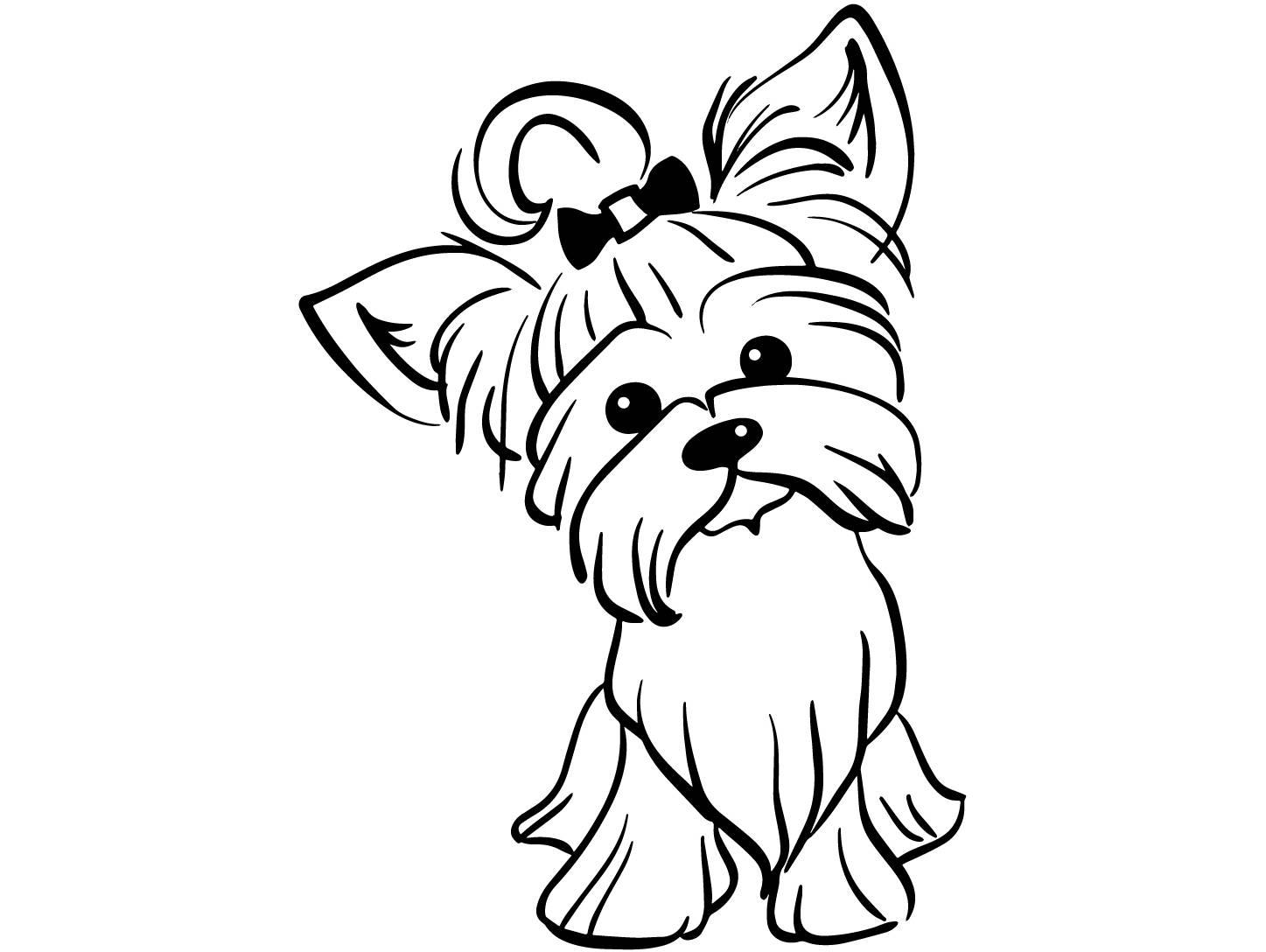 Yorkie Cartoon Drawing At Getdrawings