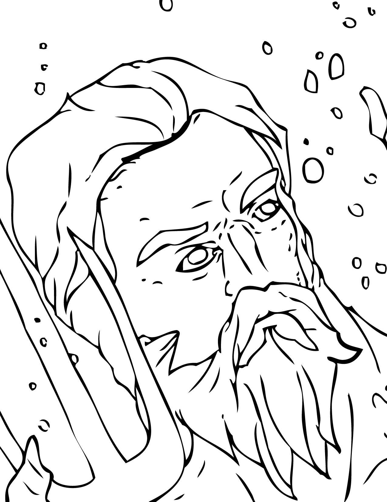 Zeus Greek Mythology Coloring Pages