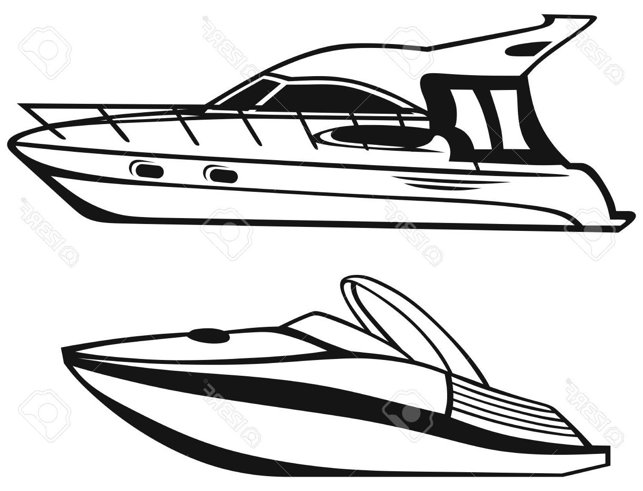 Boat Silhouette Vector At Getdrawings