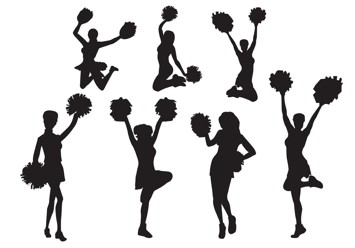 Cheerleader Stunt Silhouette At Getdrawings