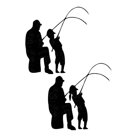 Download Couple Fishing Silhouette at GetDrawings | Free download